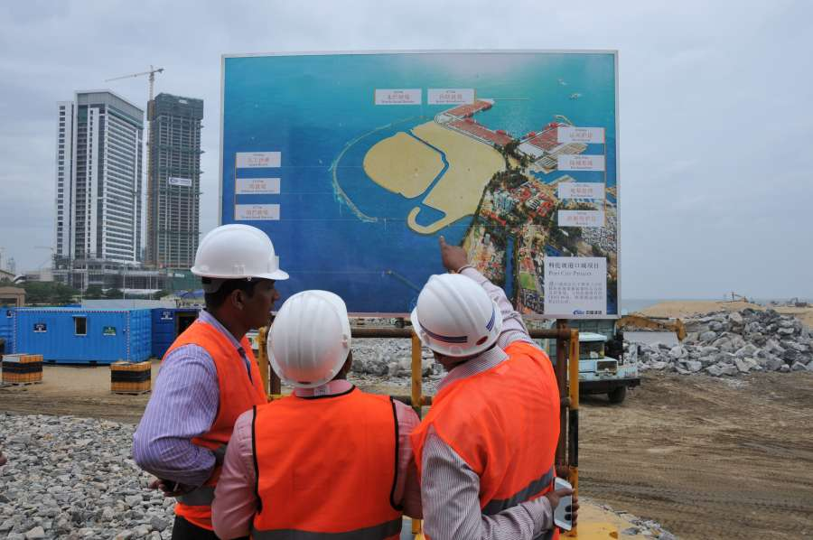 (WORLD SECTION) SRI LANKA-COLOMBO-PORT CITY-DEVELOPMENT PROJECT-VISIT by .