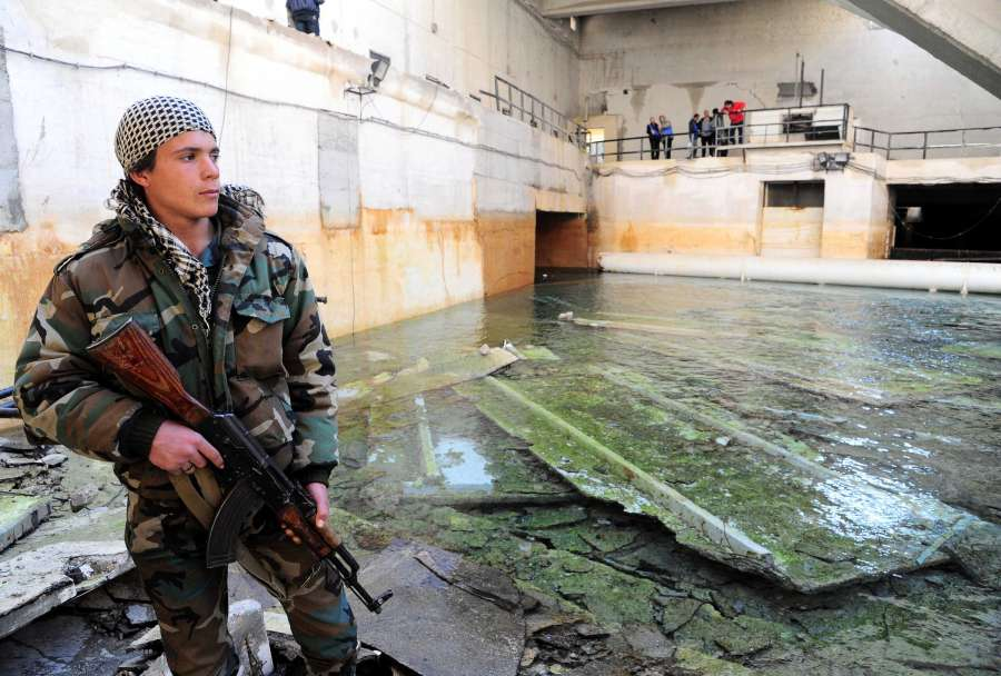 SYRIA-AIN FIJEH-SYRIAN FORCES-WATER-RICH TOWN-FULLY CONTROL by .