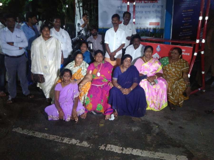 Chennai: Well wishers of Tamil Nadu Chief Minister J Jayalalithaa who suffered a cardiac arrest in Chennai gather outside Apollo Hospital on Dec 4, 2016. (Photo: IANS) by .