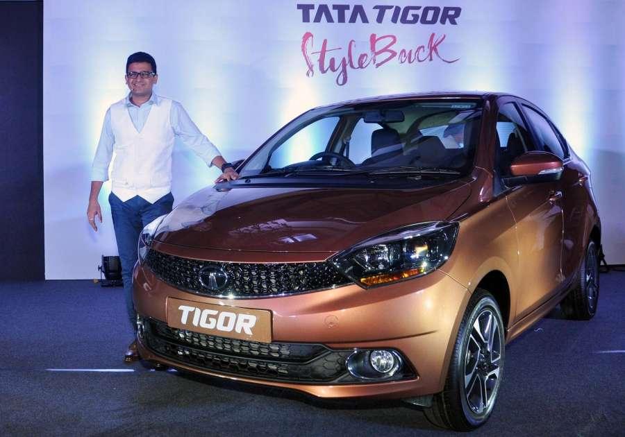 "Kolkata: Tata Motors Head Marketing (Passenger Vehicles Business Unit) Vivek Srivatsa at the launch of ""Tigor"" in Kolkata, on March 31, 2017. (Photo: Kuntal Chakrabarty/IANS) by ."