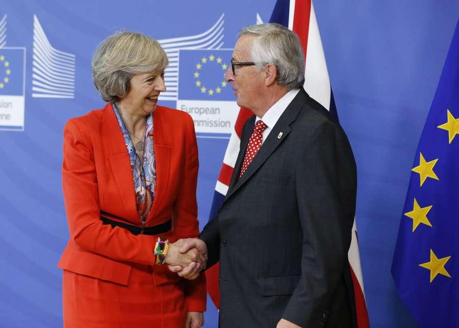 BELGIUM-BRUSSELS-EU-BRITAIN-MEETING by .