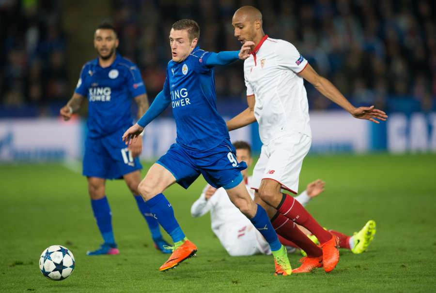 (SP)BRITAIN-LEICESTER-CHAMPIONS LEAGUE-ROUND OF 16-LEICESTER CITY VS SEVILLA FC by .