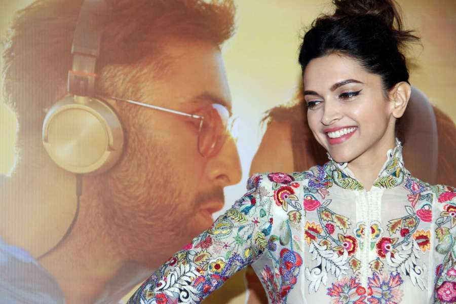 Mumbai: Actress Deepika Padukone during the celebration of music of film Tamasha, in Mumbai on Oct. 31, 2015. (Photo: IANS) by .