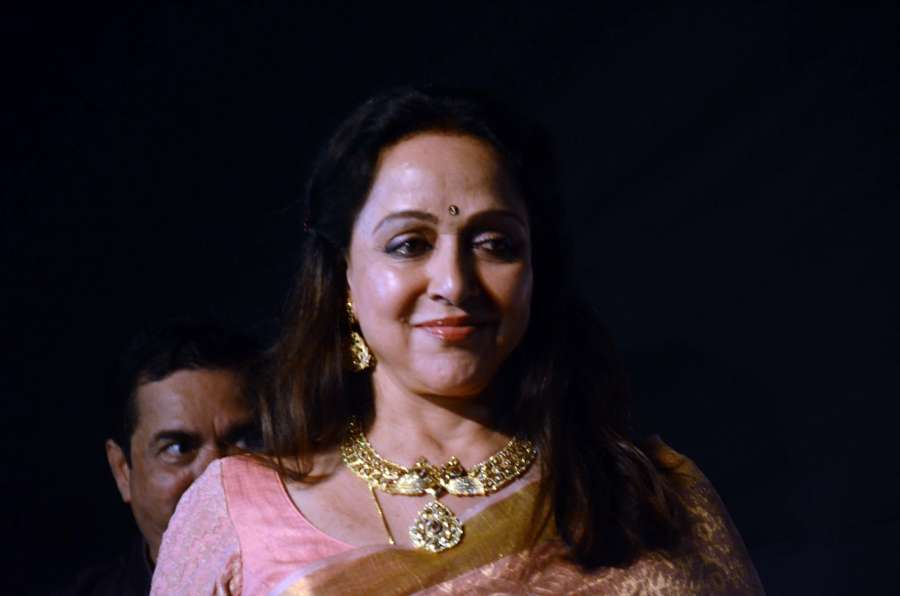 Mumbai: Actress and BJP MP Hema Malini at the Dadasaheb Phalke award function in Mumbai on April 21, 2017. Hema Malini was given Dada Saheb Phalke award for her immense contribution in Indian cinema. (Photo: Sandeep Mahankal/IANS) by .
