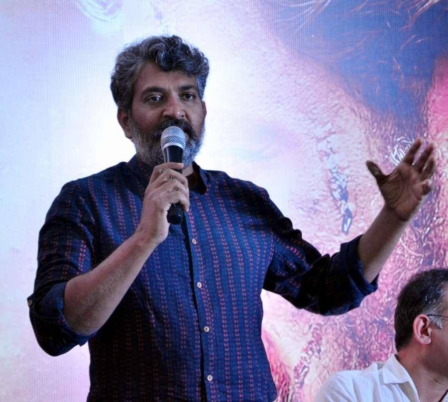"Chennai: Filmmaker S. S. Rajamouli during press conference regarding film ""Baahubali: The Beginning"" in Mumbai on April 9, 2017. (Photo: IANS) by ."