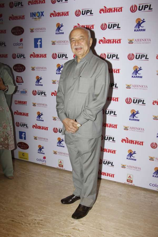 Mumbai: Former Union Home Minister Sushil Kumar Shinde arrives to attend the 4th edition Lokmat Maharashtrian of The Year 2017 in Mumbai on April 11, 2017. (Photo: IANS) by .