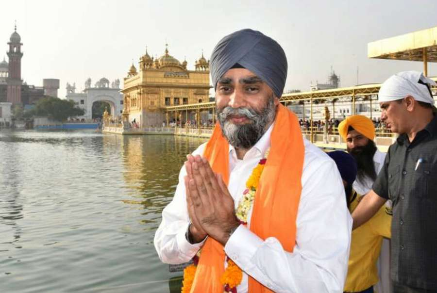 Amritsar: Canadian Defence Minister Harjit Singh Sajjan pays obeisance at the Golden Temple in Amritsar on April 20, 2017. (Photo: IANS) by .