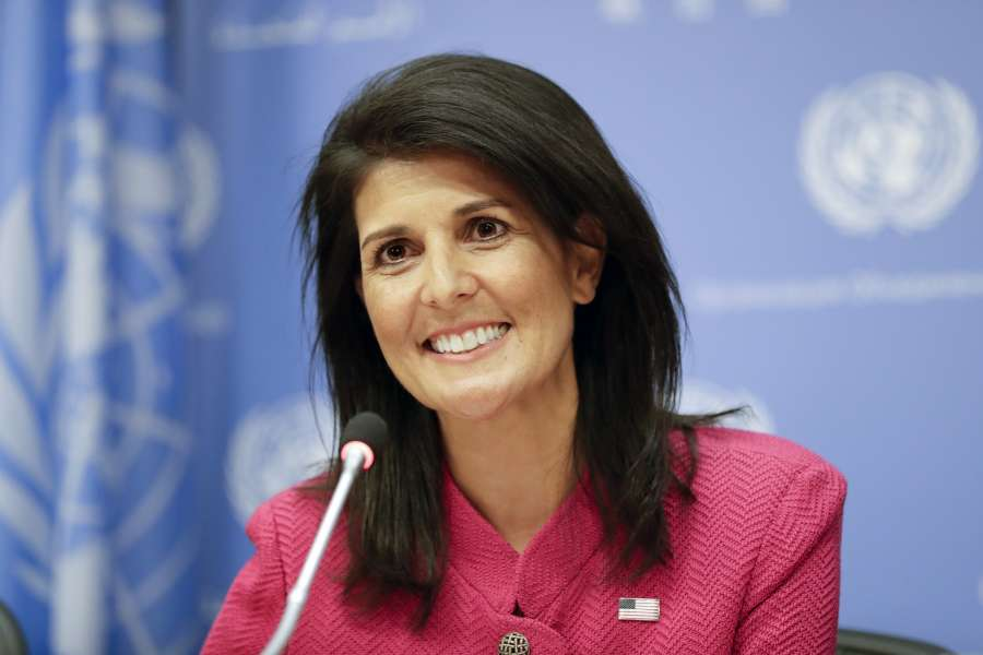 UN-SECURITY COUNCIL-NIKKI HALEY-PRESS CONFERENCE by .
