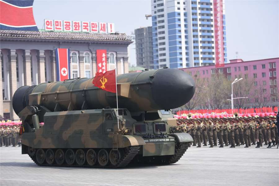 DPRK-PYONGYANG-MILITARY PARADE by .