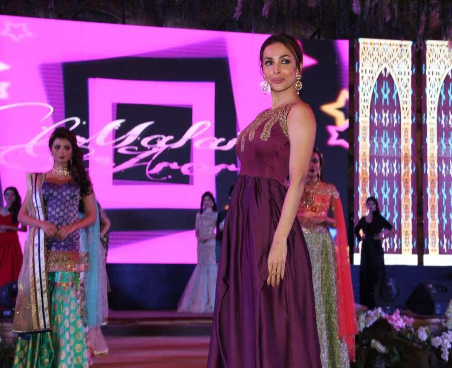 Gurgaon: Actress Malaika Arora Khan during Wedding Awards ceremony in New Delhi on March 21, 2017. (Photo: IANS) by .