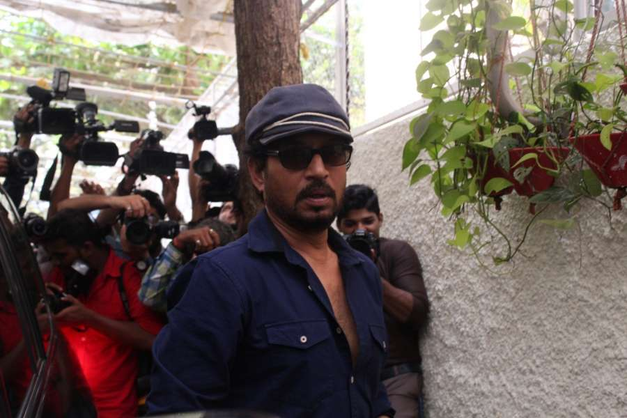 Mumbai: Actor Irrfan Khan spotted at Sunny Super Sound studio in Mumbai on March 30, 2017. (Photo: IANS) by .