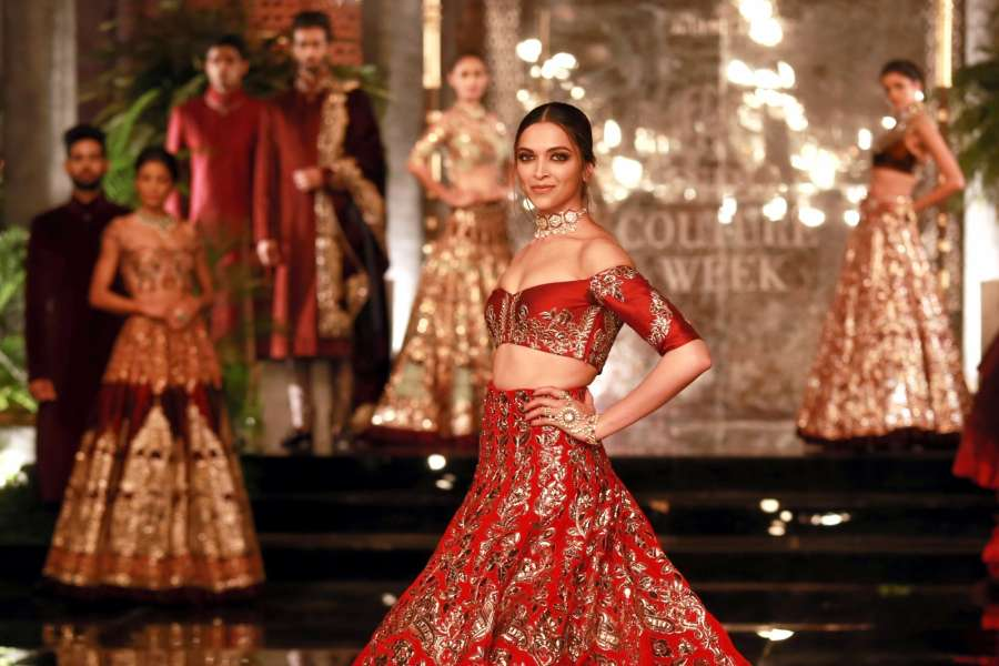 New Delhi: Actors Deepika Padukone and Fawad Khan during the designer Manish Malhotra's fashion show at the FDCI India Couture Week 2016 in New Delhi on July 20, 2016. (Amlan Paliwal/IANS) by .
