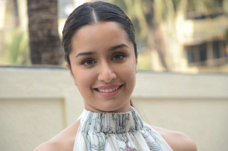 """Mumbai: Actress Shraddha Kapoor arrives to launch the trailer of her upcoming film """"Half Girlfriend"""" in Mumbai on April 10, 2017. (Photo: IANS) by ."""