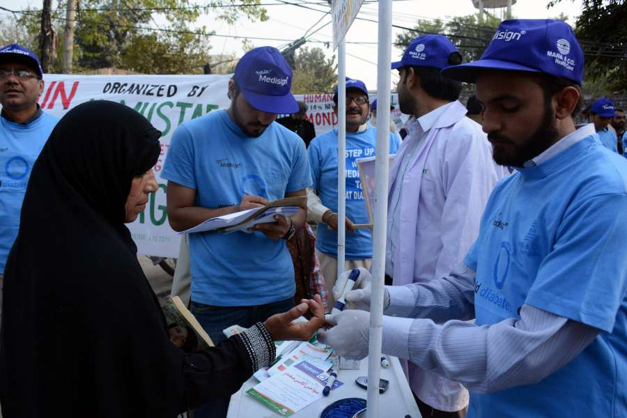 (WORLD SECTION) PAKISTAN-LAHORE-WORLD DIABETES DAY-RALLY by .