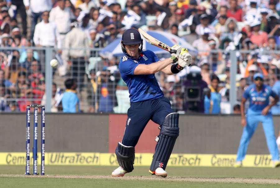 Kolkata: Sam Billings of England in action during the third ODI match between India and England at Eden Gardens in Kolkata, on Jan 22, 2017. (Photo: Surjeet Yadav/IANS) by .