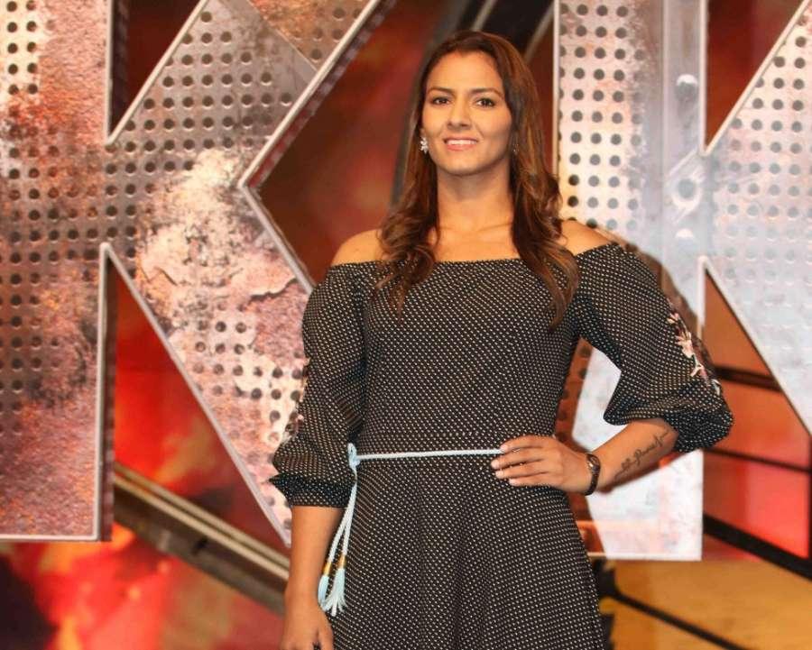 Mumbai: Wrestler Geeta Phogat during the launch of Colors TV show Khatron Ke Khiladi Season 8 in Mumbai on May 9, 2017. (Photo: IANS) by .