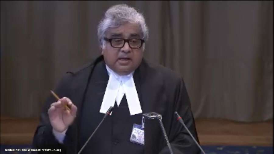 The Hague: A screengrab of Advocate Harish Salve as he speaks at the International Court of Justice during a public hearing in the case of Kulbhushan Jadhav, the alleged Indian spy sentenced to death by a Pakistani military court in The Hague, Netherlands on May 15, 2017. (Photo: IANS/UN) by .