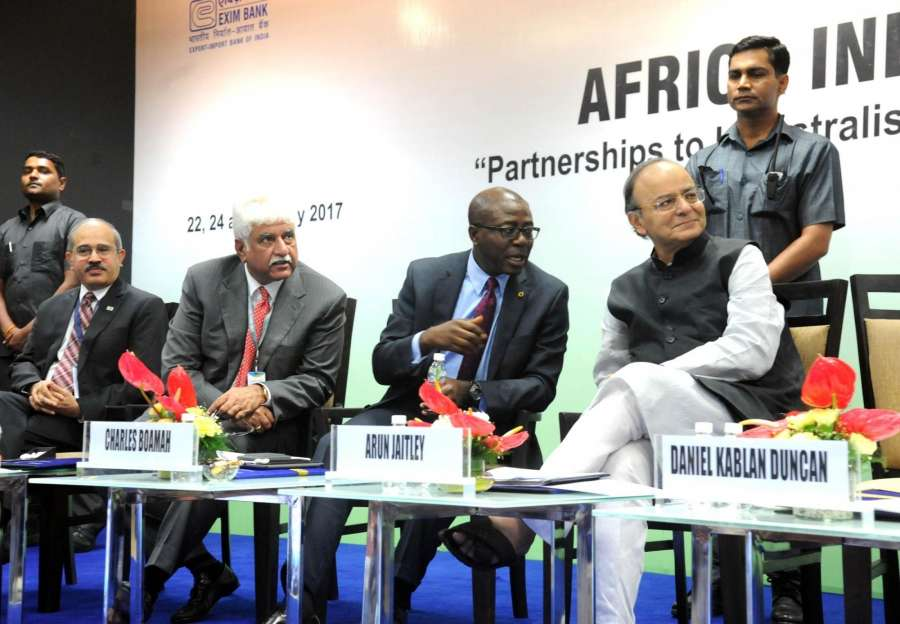 Gandhinagar: Union Finance Minister Arun Jaitley with other dignitaries during the 52nd Annual Meetings of the African Development Bank in Gandhinagar, on May 22, 2017. (Photo: IANS) by .