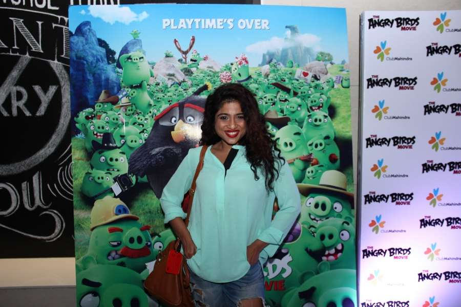 Mumbai: RJ Malishka during the premier of film The Angry Birds in Mumbai, on May 26, 2016. (Photo: IANS) by .