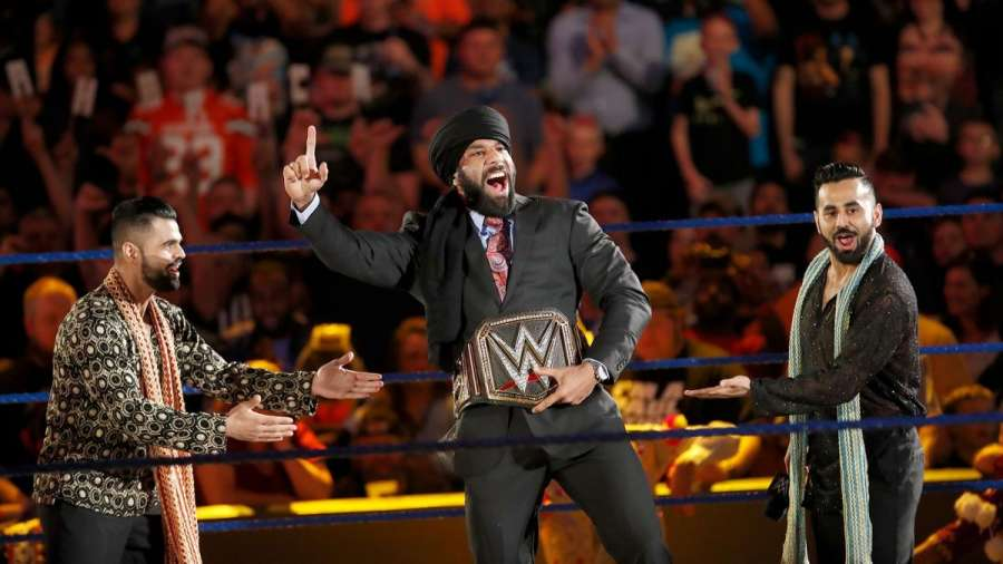 World Wrestling Entertainment (WWE) champion Yuvraj Singh Dhesi popularly known as Jinder Mahal. (File Photo: IANS) by .