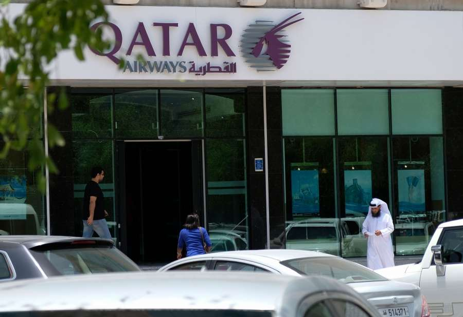 DOHA, June 6, 2017 (Xinhua) -- People walk past the Qatar Airways headquarters in Doha, capital of Qatar, on June 6, 2017. Bahrain, the United Arab Emirates and Yemen joined Saudi Arabia and Egypt in severing relations with gas-rich Qatar, with Riyadh accusing Doha of supporting groups, including some backed by Iran. (Xinhua/Nikku/IANS) by .