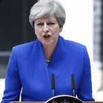 LONDON, June 9, 2017 (Xinhua) -- British Prime Minister Theresa May gives a speech at 10 Downing Street after meeting with the Queen in London, Britain on June 9, 2017. British Prime Minister Theresa May confirmed Friday afternoon she will form a Westminster government, helped by members of Northern Ireland's Democratic Unionist Party (DUP). (Xinhua/Richard Washbrooke/IANS) by .
