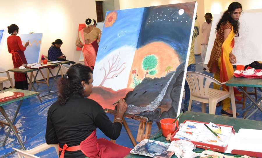Kochi: Artistes from transgender community participate in the 10-day national arts and culture festival of Dalits and tribals - 'Samanwaya' organised by the Kerala Lalit Kala Akademi in Kochi on July 15, 2017. (Photo: IANS) by .
