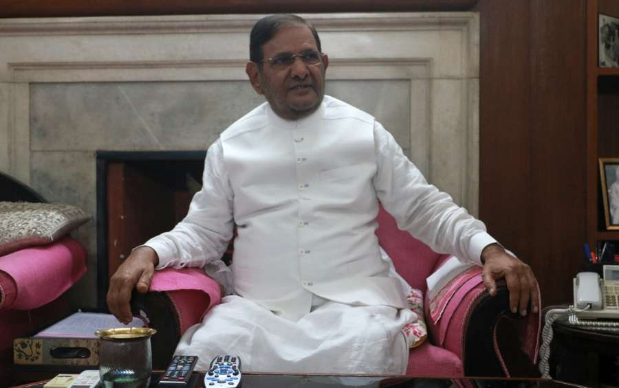 New Delhi: JD(U) leader Sharad Yadav during a meeting with party leaders in New Delhi on July 27, 2017. (Photo: IANS) by .