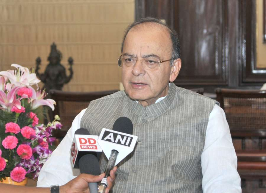 New Delhi: Union Minister for Finance, Corporate Affairs and Defence Arun Jaitley making a statement on the Supreme Court's decision on Triple Talaq in New Delhi on Aug 22, 2017. (Photo: IANS/PIB) by .