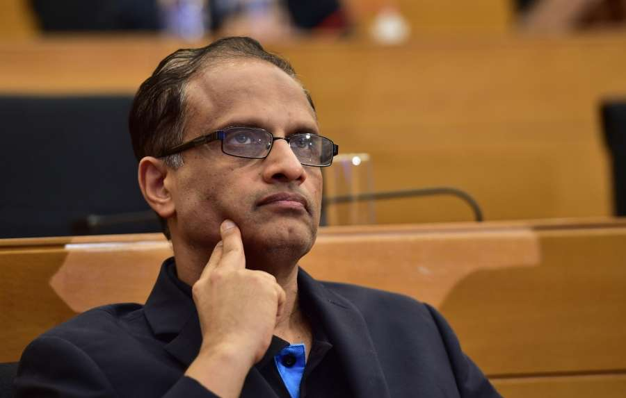 Bengaluru: Infosys' newly appointed interim CEO U B Pravin Rao during the Infosys press conference in Bengaluru on Aug 18, 2017. (Photo: IANS) by .