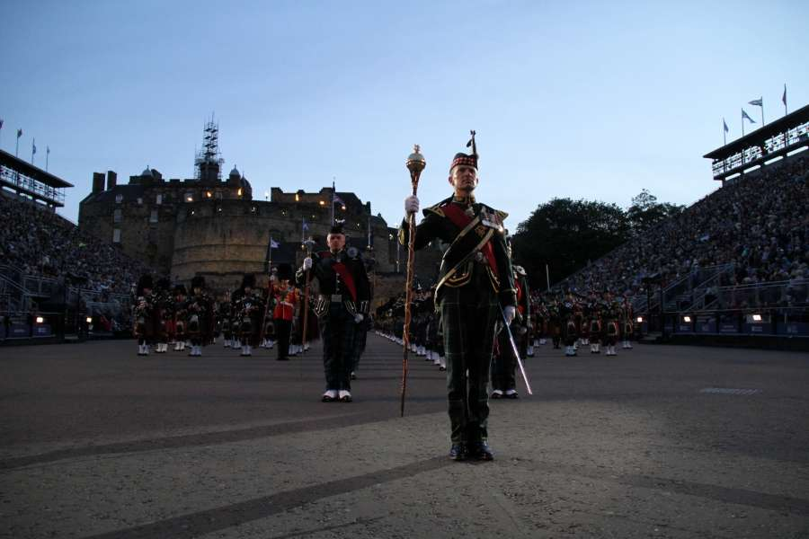 EDINBURGH, Aug. 12, 2017 (Xinhua) -- A Scottish military band performs during the 2017 Royal Edinburgh Military Tatoo in Edinburgh, Britain, Aug. 10, 2017. The Royal Edinburgh Military Tattoo is an annual event performed by British, Commonwealth and international military bands and artistic performance teams on the esplanade of Edinburgh Castle in the capital of Scotland. The first Edinburgh Tattoo took place in 1950.(Xinhua/Zhang Dailei/IANS) by .