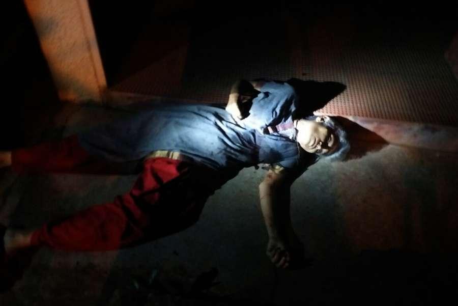 Bengaluru: The body of Senior journalist Gauri Lankesh, who was shot dead by unidentified men at her residence, Rajarajeshwari Nagar in Bengaluru on Sept 5, 2017. (Photo: IANS) by .