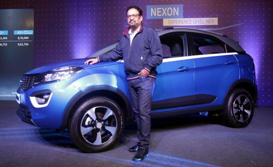 "Kokata: Tata Motors design head Pratap Bose during the launch of the TATA's SUV ""Nexon"" in Kokata on Sept 21, 2017. (Photo: IANS) by ."
