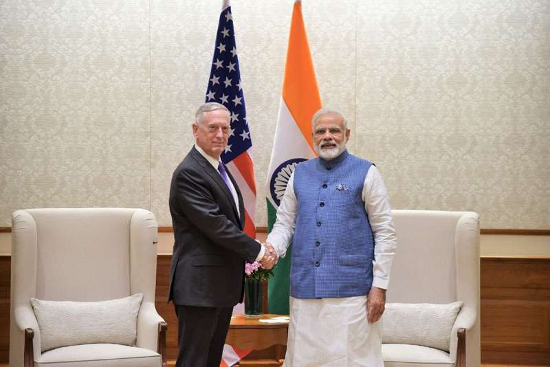 New Delhi: US Defence Secretary James Mattis calls on the Prime Minister Narendra Modi, in New Delhi on Sept. 26, 2017. (Photo: IANS/IANS) by .