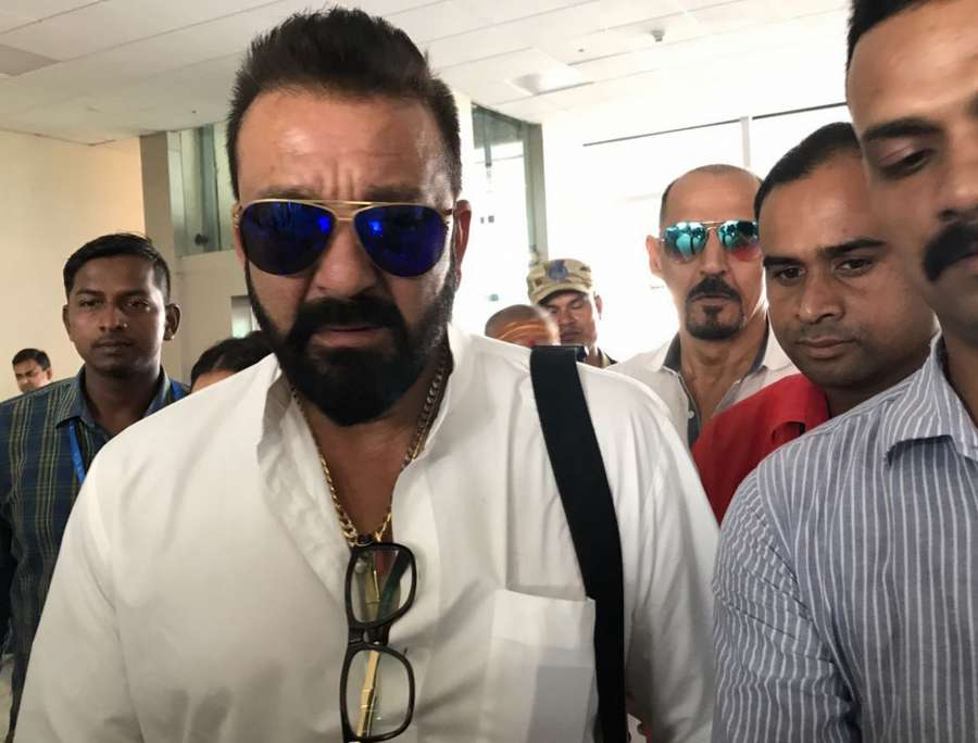 Babatpur: Actor Sanjay Dutt spotted at Lal Bahadur Shastri International Airport in Babatpur, Uttar Pradesh on Sept 13, 2017. (Photo: IANS) by .