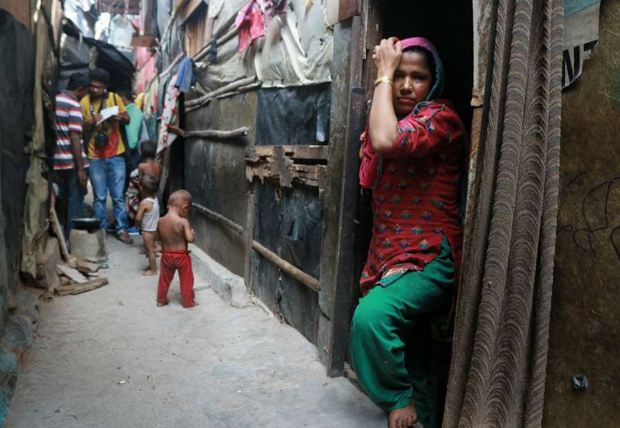 New Delhi: A view of Rohingya muslims staying in dilapidated condition near Kalindi Kunj area in New Delhi on Sept 6, 2017. Rohingyas are stateless Indo-Aryan people from Rakhine State, Myanmar who have long suffered due to operations carried out by Myanmar government's security forces against them. To escape the barbaric acts of violence against them in Myanmar, Rohingya refugees had fled to different countries like Indonesia, Malaysia, Singapore, Thailand, the Philippines, Bangladesh and India. According to reports, about 40,000 Rohingyas are currently residing in India. (Photo: Bidesh Manna/IANS) by .