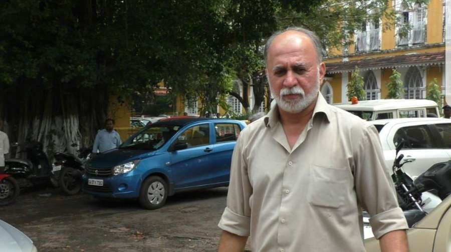 Panaji: Former Tehelka editor-in-chief Tarun Tejpal who is charged of raping a junior colleague walks out of the Goa High Court in Panaji on Sept 26, 2017. (Photo: IANS) by .