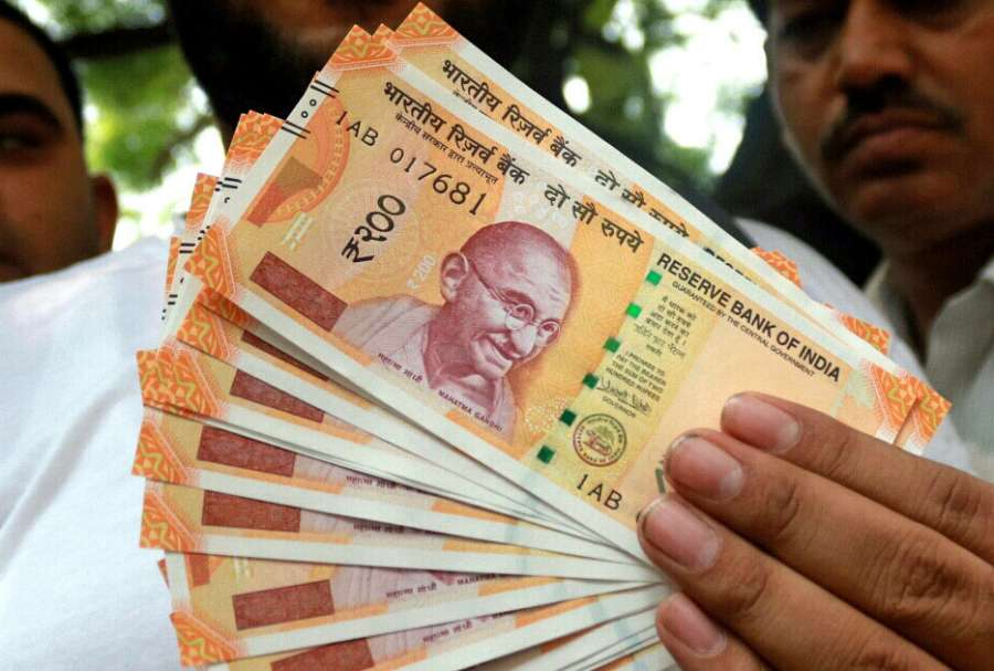 New Currency Notes of Rs 200 denomination. (File Photo: IANS) by .