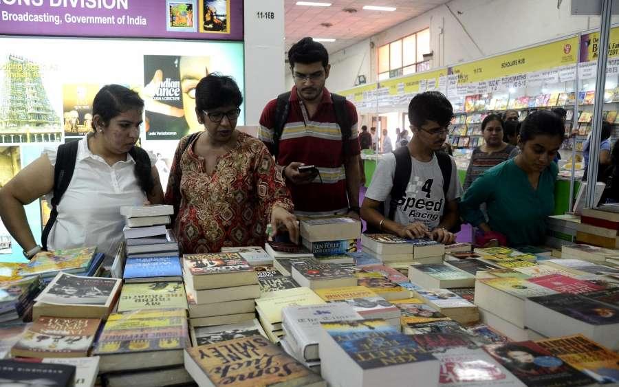 New Delhi: Book lovers throng the 'Delhi Book Fair-2017' at Pragati Maidan in New Delhi on Aug 26, 2017. (Photo: IANS) by .