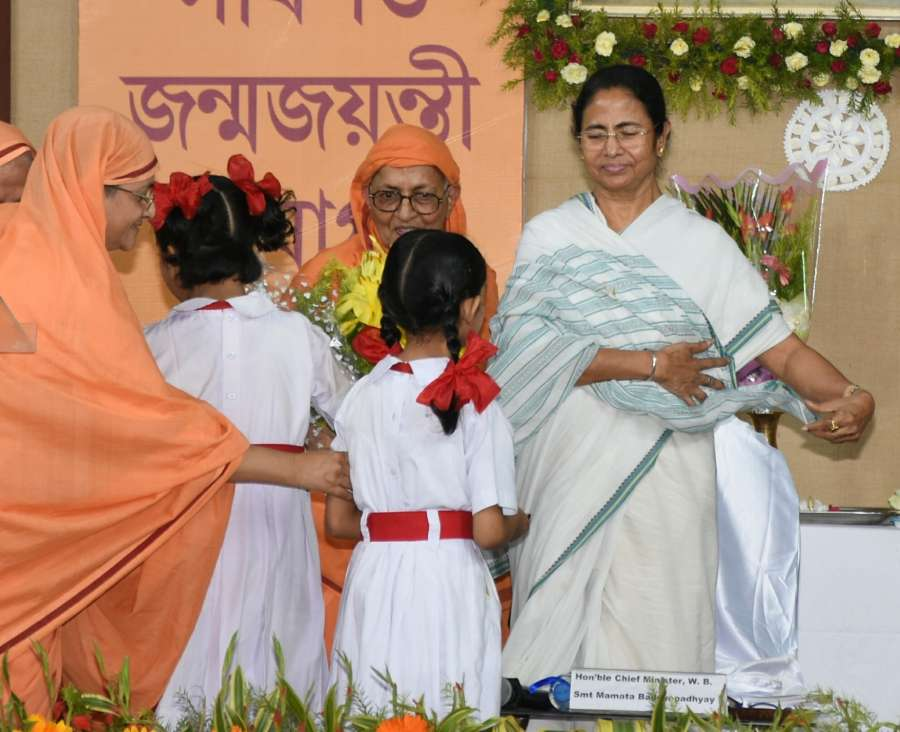 Kolkata: West Bengal Chief Minister Mamata Banerjee during inauguration of the restored house of Sister Nivedita to commemorate her 150th (sesquicentennial) birth anniversary in Kolkata on Oct 23, 2017. (Photo: IANS) by .