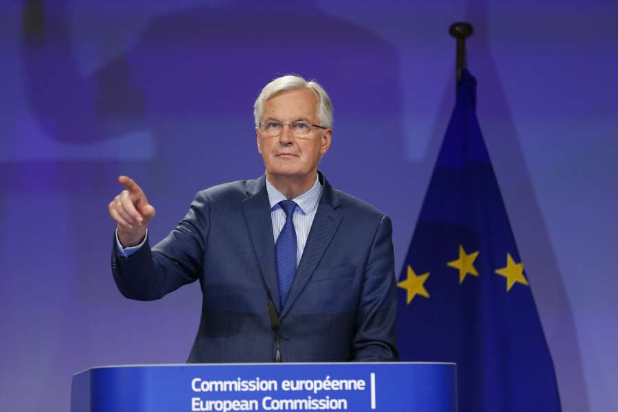 BELGIUM-BRUSSELS-BREXIT TALKS-FIFTH ROUND-PRESS CONFERENCE by .
