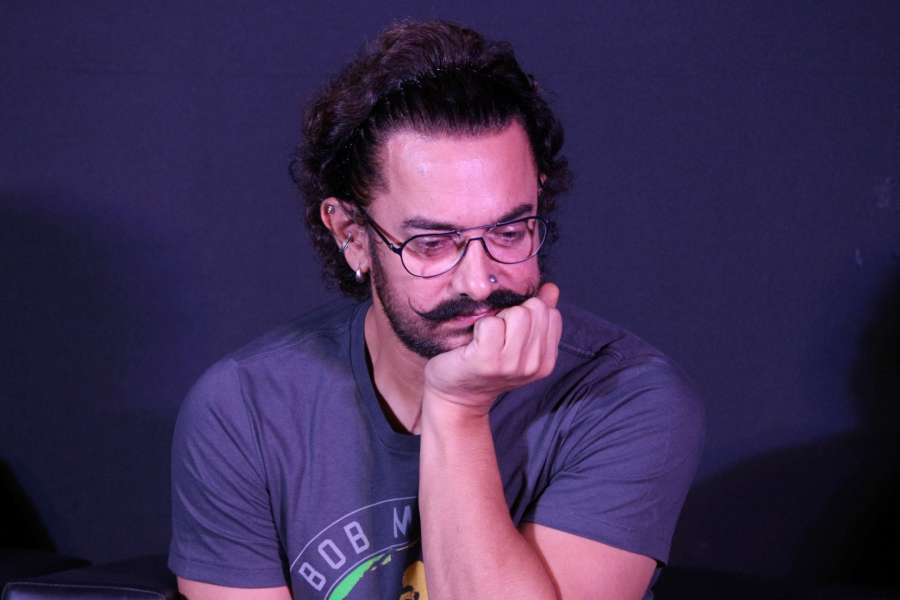 """Mumbai: Actor Aamir Khan during the song launch of his upcoming film """"Secret Superstar"""" in Mumbai on Aug 21, 2017. (Photo: IANS) by ."""