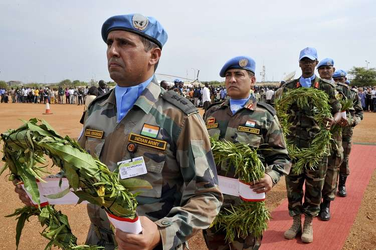 Memorial ceremony for five Indian Peacekeepers in UNMISS by .