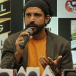 Gurugram: Actor Farhan Akhtar talks to the press regarding the launch of Royal Stag Barrel Select MTV Unplugged Season 7 in Gurugram. (Photo: IANS) by .