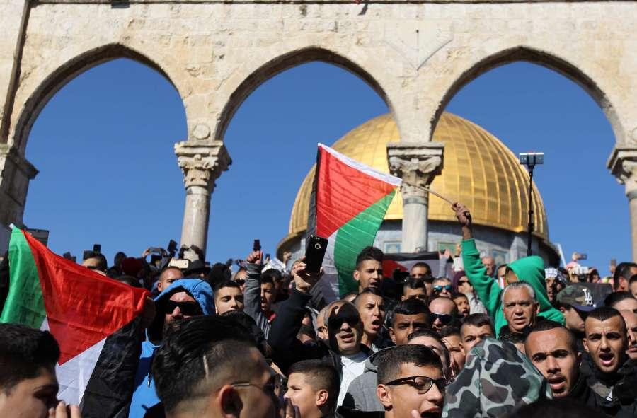 MIDEAST-JERUSALEM-PROTEST by .