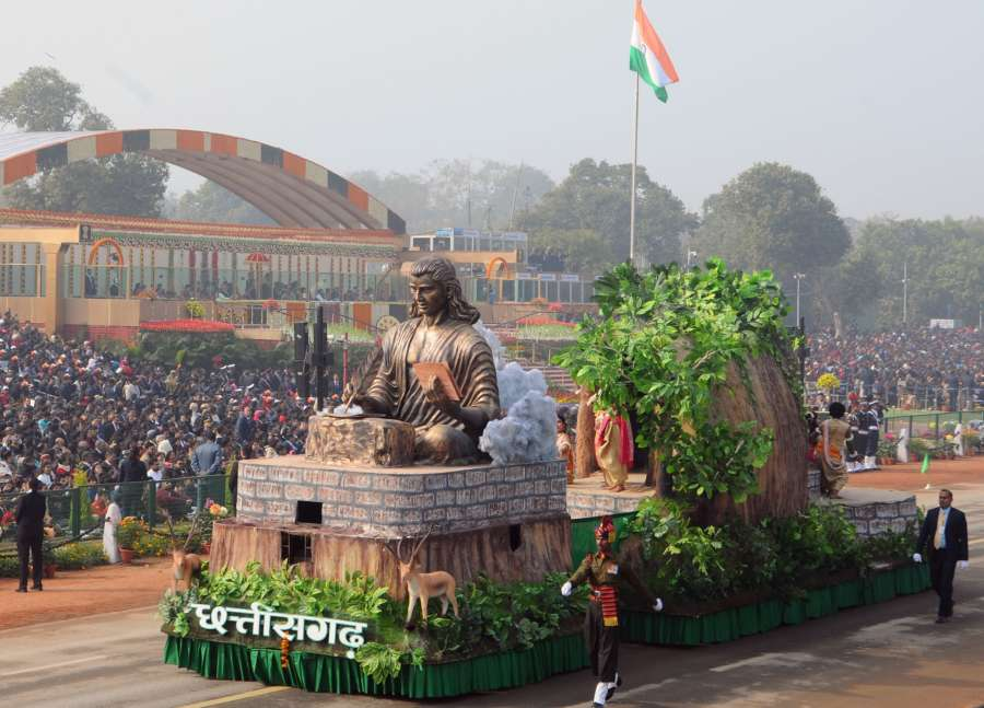 New Delhi: Tableau of Chhattisgarh during Republic Day Parade 2018 on Rajpath in New Delhi Jan 26, 2018. (Photo: IANS/PIB) by .