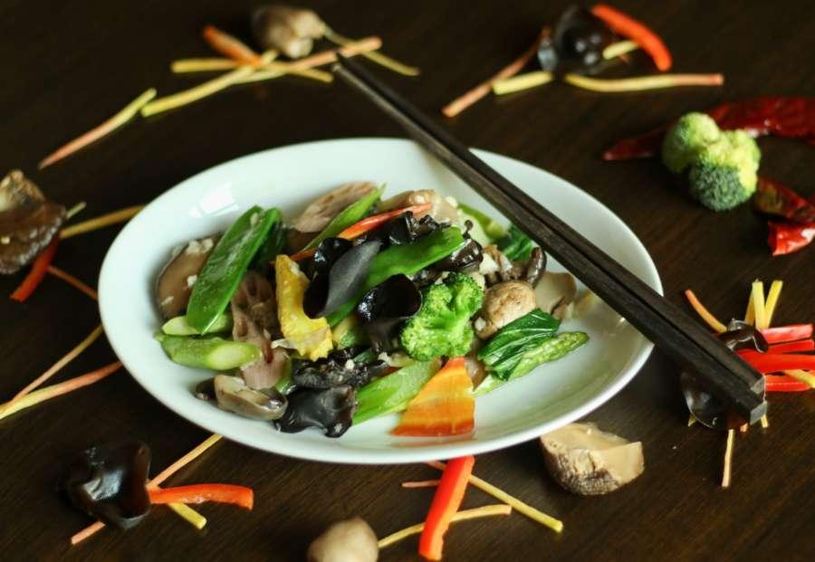 stir fried vegetables by .