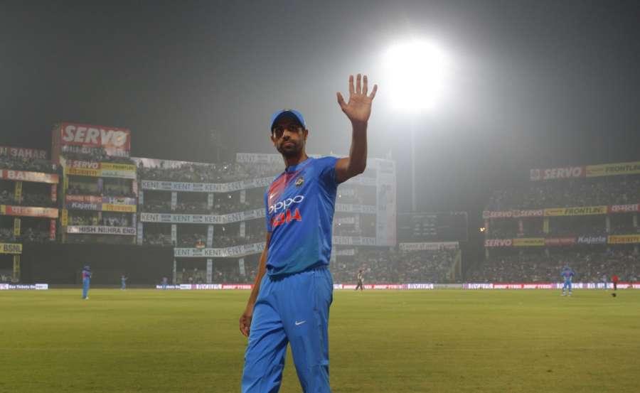 New Delhi: Ashish Nehra of India during the first T20 match between India and New Zealand at Feroz Shah Kotla stadium in New Delhi. (Photo: Surjeet Yadav/IANS) by .