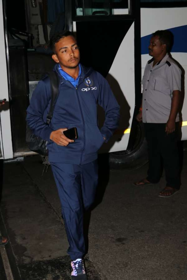Mumbai: India's Under-19 Cricket team captain Prithvi Shaw at Chhatrapati Shivaji International Airport in Mumbai on Dec 27, 2017. (Photo: IANS) by .