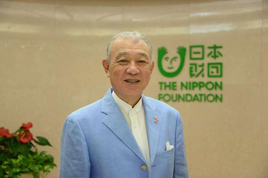 Yohei Sasakawa, Chairman of The Nippon Foundation. by .